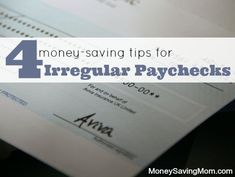 Curious how to make your budget work efficiently like many moms before you? Check out these tips for saving your money when you don't have a regular paycheck...