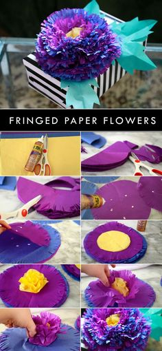 Make pretty flowers using tissue paper and Aleene's Tacky Glue with ! Make pretty flowers using tissue paper and Aleene's Tacky Glue with ! Tissue Flowers, Crepe Paper Flowers, Paper Roses, Diy Flowers, Pretty Flowers, Fabric Flowers, Amanda Flowers, Wedding Flowers, Flower From Paper