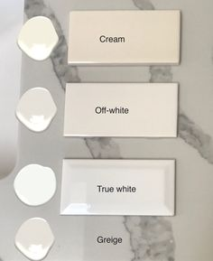 tiles Patterns Two Steps to Choosing the Right White Tile - Maria Killam - The True Colour Expert White Paint Colors, White Paints, Wall Colors, Neutral Paint, Colours, White Kitchen Decor, Kitchen Ideas, Kitchen Updates, Kitchen Paint