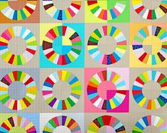 Modern Patchwork Quilt by redpepperquilts on Etsy