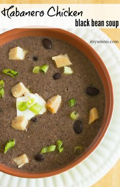 Habanero Chicken Black Bean Soup