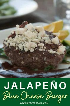 If you have frozen patties at home, this is a sure-fire way to add a touch of surprising flavor and, of course, a nice pop of heat via jalapeños. The teriyaki sauce adds a bit of tang to the burger, and it works very well with the richness of the blue cheese. #bluecheese #cheeseburger #jalapeno