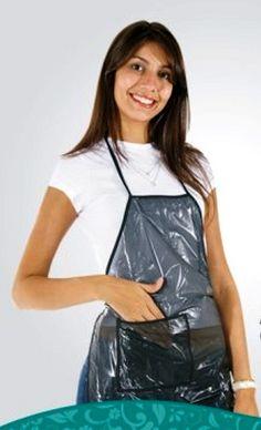 Plastic Aprons, Pvc Apron, Hairdresser, Female, Tops, Women, Fashion, Apron, Moda