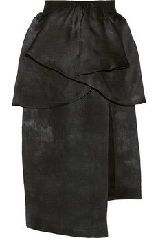 Giambattista Valli Pleated distressed-effect silk-organza skirt | NET-A-PORTER
