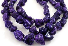 Nugget Beads Purple Magnesite Chunky Nugget Beads by BijiBijoux
