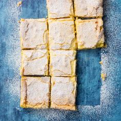 Gooey Butter Cake Bars | Cook's Country Caramel Chocolate Bar, Caramel Tart, Chocolate Caramels, Chocolate Desserts, Gooey Cake, Gooey Butter Cake, Butter Cakes, Cake Bars, Dessert Bars