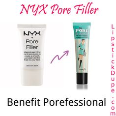 NYX Pore Filler dupe for Benefit Porefessional