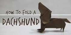 The Best Tutorial For Dachshund Lovers Ever! Click Here To Learn How To Fold An Origami Dachshund! - A Dog's Love