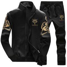 69d3fe4b8f2f8 2017 Mens Brand Outwear Tracksuit Men Jackets+pants 2pc Mens Hoodies and  Sweatshirts Mens Slim Fit Sportswear Plus Size 3XL 4XL
