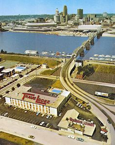 Older view with old riverfront stadium