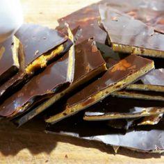 Honey I'm Home Chocolate. Makers of dark and rich,decadent  paper thin honeycomb. #honeycomb #darkchoc