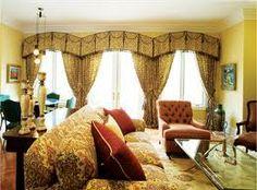 art deco style window treatment idea, art deco curved valance top treatment