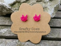 Hey, I found this really awesome Etsy listing at https://www.etsy.com/listing/223378478/pigs-might-fly-hot-pink-earrings-flying