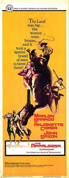 Sangue em sonora (1966) John Saxon, Marlon Brando, Appaloosa, Film Posters, Movies, Films, Film Poster, Film Books, Movie