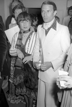 Anna Piaggi and Manolo Blahnik in 1973.