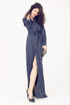 Maialen nos sorprende en su blog con este espectacular vestido de lunares de @Dolores Promesas Wrap Dress, Blog, Dresses, Fashion, Polka Dot Dresses, Vestidos, Moda, Fashion Styles, Wrap Around Dress