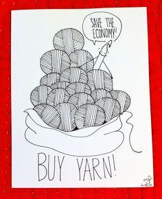 buy yarn!