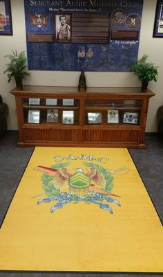 Custom rug just made for THE SERGEANT AUDIE MURPHY CLUB in #FortHood for their museum conference room.