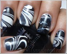 26 Black And White Manicure Ideas