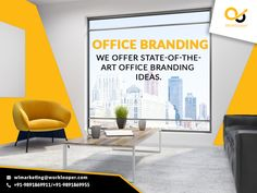 Renovate your office with cool and comfortable office branding ideas.