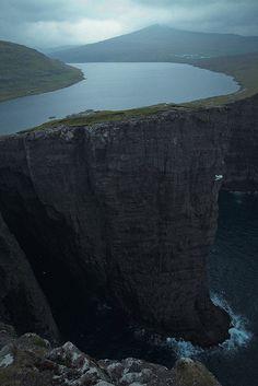 Sørvágsvatn Lake, Faroe Islands, Denmark