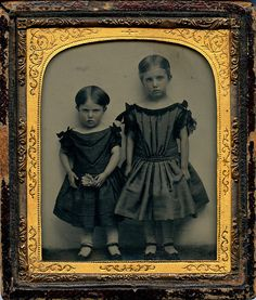 Ambrotype Two Girls with a Shuttlecock by depthandtime, Flickr