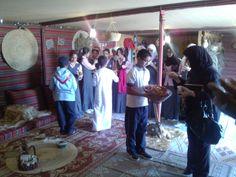 طالبات مدرسة الخليل فى زيارة للقرية التراثية