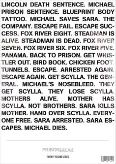 Most accurate and short summary of 4 seasons of  Prison Break you will ever read.