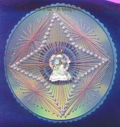 Изонить: История и схемы для вышивки на CD-дисках