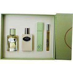 PRADA INFUSION D`IRIS by Prada Gift Set for WOMEN: EAU DE PARFUM SPRAY 1.7 OZ  BODY LOTION 3.4 OZ  EAU DE PARFUM... $52.19
