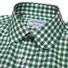 Rounded tips and green gingham.   via Overdressed & Underprepared