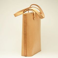 Vegetable tan leather tote