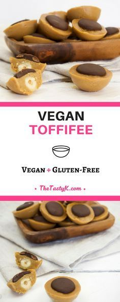 vegan recipes | gluten free | dessert -- This Vegan Toffifee, as the name suggests, is the veganized version of your childhood's favorite. Perfection in its simplest forms! — Via thetastyk.com #thetastyk, #vegan, #glutenfree, #toffifee, #toffifay, #dessert
