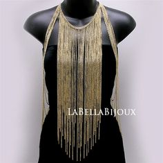 Gold Body Chain Front Chains by LaBellaBijoux on Etsy, $55.00