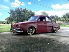 "cultureride: "" Mike Unland is building some insane stuff again! VW based '60 Renault Dauphine! Can't wait to see the end result! """