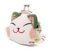 Lucky Cat Coin Purse - Maneki Neko White $7.95