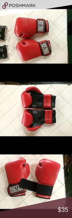 Medium SUPER BAG BOXING GLOVES. Get in wicked good shape while reducing stress by punching with these excellent quality boxing gloves- made by ❣Ringside❣- the best in the business!  16 ounce/ Adult Medium/ Like-new  super bag gloves!  My name is written on the wrist SHEILA. I used these just A handful of times shadow boxing so they're like new. 😍 Ringside Accessories Gloves & Mittens