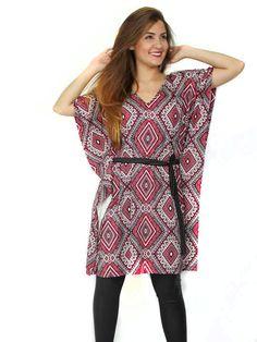 Vestido decote V com tiras no decote estampa étnica. Acesse: http://www.modanaweb.com.br/loja/products.php?product=vestido-decote-v-com-tiras-no-decote-estampa-etnica