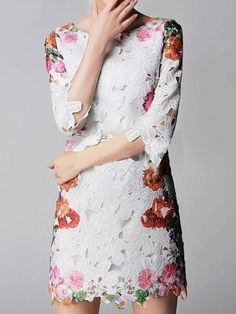 Floral Dress With Cut Out