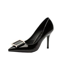 Hydne Women's Fashionable Lovely Decorating Elegant Genuine Leather High Heels Shoes >>> This is an Amazon Affiliate link. Find out more about the great product at the image link.