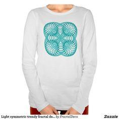 Light symmetric trendy fractal design t shirt