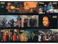 STAR TREK THE NEXT GENERATION PROFILES FIRST CONTACT CARDS SET OF NINE