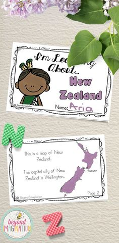 Travel to the land of New Zealand with your lower elementary grade/ kindergarten/ special education learners. Includes super fun boarding passes and postcards. This fun fact country study booklet is perfect to use for an around the world unit, an international day, an international festival, a social studies unit, a cultural school project, a geography project, a cultural day, a cultural fair, a field day, or a multicultural day. Find out more about this product by clicking on the link.