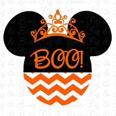 Halloween Disney Minnie Mouse Iron On Transfer for T Shirts Orange Chevron Personalized FREE by FIGandBEAR on Etsy https://www.etsy.com/listing/252709129/halloween-disney-minnie-mouse-iron-on