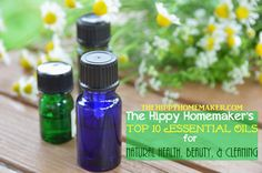 Top Ten Essential Oils for Natural Health, Beauty, & Cleaning - thehippyhomemaker.com