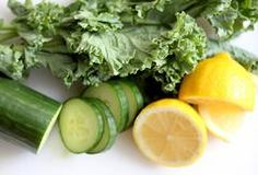 Here are the ingredients for Green Lemonade Plus: 2 medium green apples 1 large cucumber 4 leaves of kale 1...