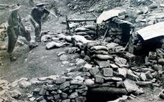 The trenches at Kohima in 1944. Where 1500 British and Commonwealth troops held fast against 12,000 Japanese Troops.