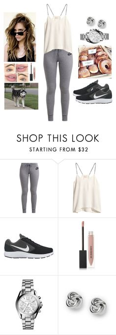 """Donut Care 💁"" by teodoramaria98 ❤ liked on Polyvore featuring NIKE, H&M, MANGO, Burberry, Michael Kors and FOSSIL"