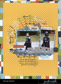 Hello everyone. Nicole here with a fun Halloween layout! What are your kiddos going to be for Halloween this year? I think Edward is leaning...