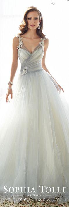 The Sophia Tolli Spring 2015 Wedding Dress Collection - Style No. Y11550 Nightingale www.sophiatolli.com #weddingdresses